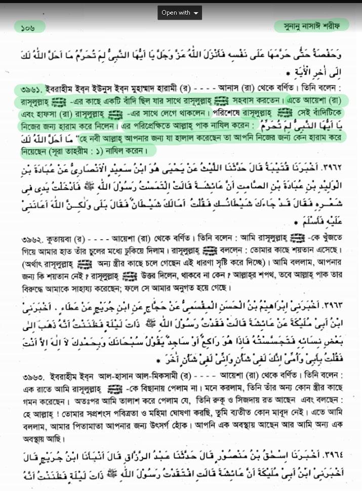 মুহাম্মদের দাসী ভোগ