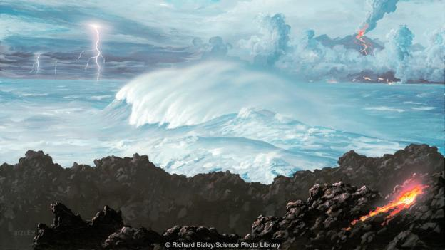Oceans formed once Earth had cooled down